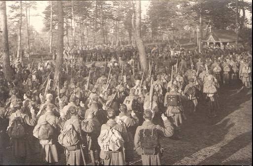 Vereidigung für Kaiser Karl beim LIR 9 (Foto von Ernst Watzek).